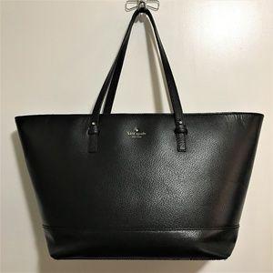 Kate Spade Lg Black Leather Tote Used